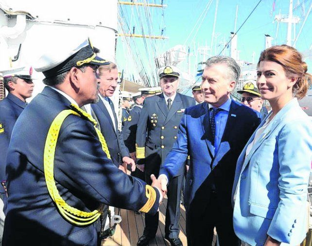 Macri celebró el 9 de Julio en la fragata Libertad