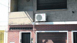el lugar. El balcón donde Orlando Calvano recibió el balazo fatal.