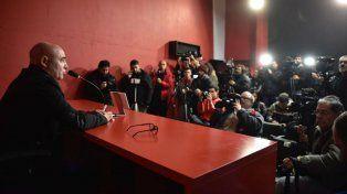 El Chocho Llop brindó una conferencia de prensa en el Coloso.