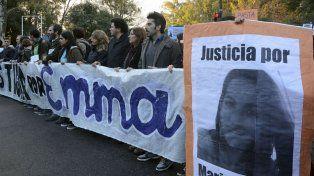 Una de las marchas realizadas pidiendo justicia por el esclarecimiento del crimen de María Emma Córdoba.