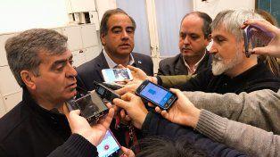 Julio Martínez y José Cano hablaron con la prensa esta mañana en la Casa Rosada.