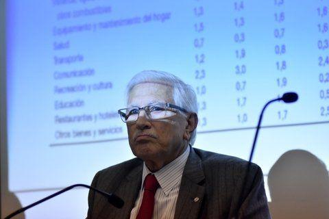 Todesca. El titular del Indec dio una conferencia de prensa en la Rosada.