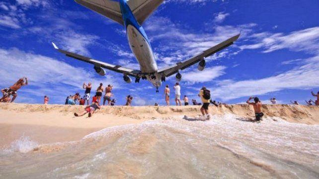 La playa Maho Beach