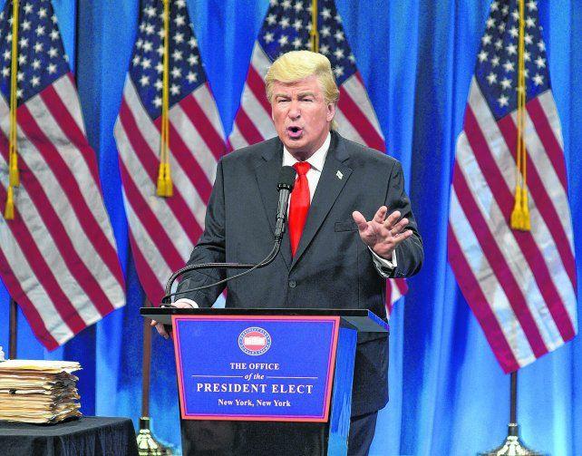 Saturday Night Live. Alec Baldwin brilló imitando a Donald Trump.