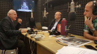 Lifschitz y Contigiani esta mañana en el estudio de La Ocho