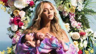 Beyoncé publicó la primera foto junto a sus gemelos Carter y Rumi que nacieron hace un mes