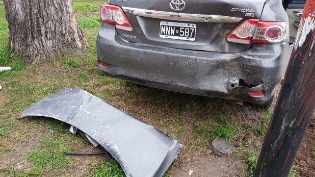 Un herido tras un espectacular accidente de tránsito en Villa Gobernador Gálvez