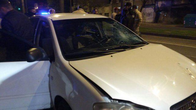 La imagen del vehículo que estuvo implicado en el accidente de tránsito.
