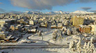 La nieve cubrió ayer hasta el Centro Cívico
