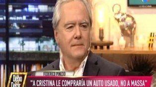 Pinedo dijo que le compraría un auto a Cristina y no a Massa
