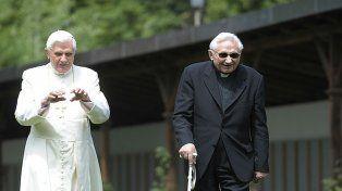 Benedicto XVI y su hermanoGeorg Ratzinger.