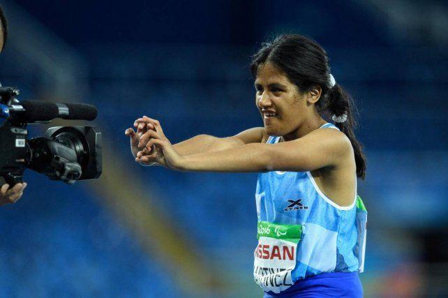 Plateada. Yanina Martínez terminó segunda en el Mundial de Londres y obtuvo una medalla.