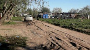 La zona de Villa Yapeyú donde arrojaron el cuerpo de Pablo Cejas.