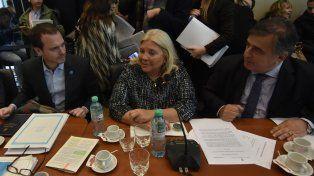 Carrió lideró el debate sobre la expulsión de De Vido en la Comisión de Asuntos Constitucionales de la Cámara baja.