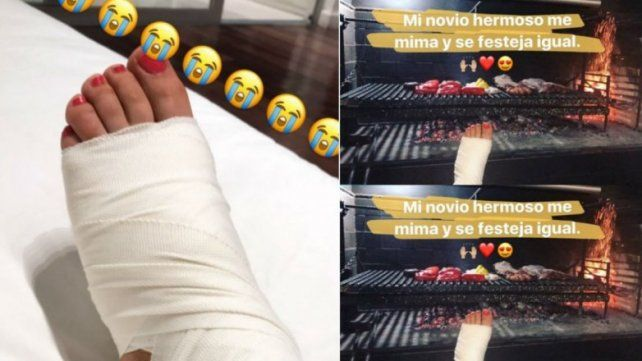 Jimena Barón se lesionó, tuvo que ser atendida en el hospital y fue mimada por Del Potro