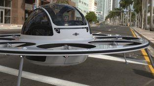 Un drone con forma de OVNI fue creado para trasladarse por la ciudad