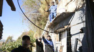 Personal municipal y de una cooperativa realizaron los trabajos de desmantelamiento.