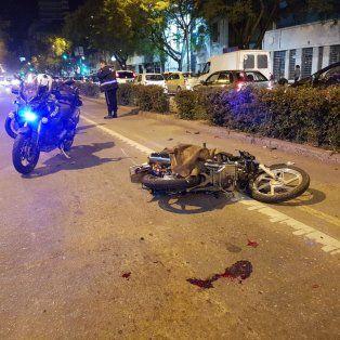 El accidente ocurrió esta noche en Pellegrini entre Dorrego y Moreno.