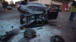 Cuatro heridos por un violento choque entre un colectivo y un auto en Ocampo y Entre Ríos