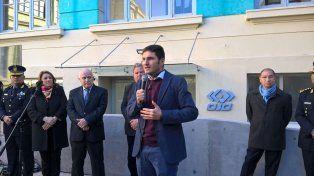 El ministro de Seguridad Maximiliano Pullaro dejó inaugurado hoy el el centro de monitoreo de seguridad EL OJO.