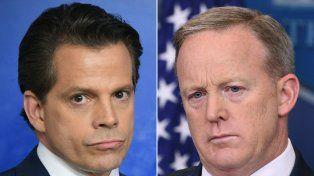 Enfrentados. Scaramucci (izquierda) negó desavenencias con Spicer.