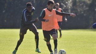 Canallas en acción. Protti volvió de Talleres y será titular. El nigeriano Ebere estará entre los suplentes.