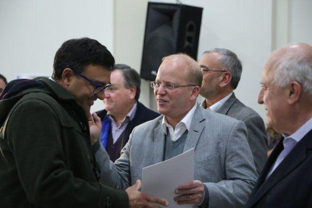 Presencia del Estado. El ministro de la Producción visitó Sunchales.