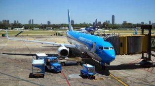 Un avión de la aerolínea de bandera que el gobierno kirchnerista decidió expropiar con la participación y aprobación del Congreso.