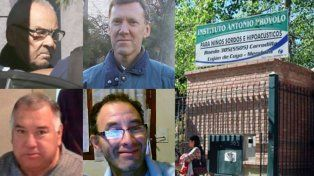Los acusados Nicola Corradi, Horacio Corbacho (arriba), Jorge Bordón y José Luis Ojeda.