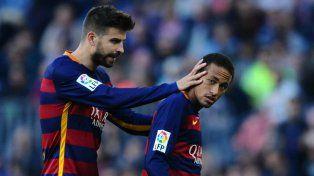 Revelación. Piqué se refirió a la continuidad de Neymar en el Barcelona.