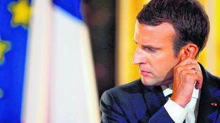 gesto. A Macron se le terminó el beneficio de su novedad y juventud.