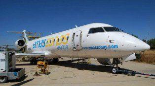 La aerolínea Amaszonas volará de Rosario a Punta del Este, Uruguay.