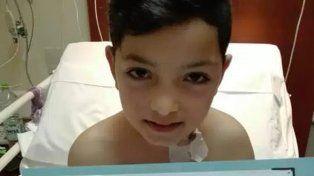El propio Alejo decidió que iba a ayudar a su padre a luchar contra la leucemia.