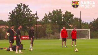 Messi, Neymar y Suárez compitieron a ver quién de los tres tiene mejor puntería
