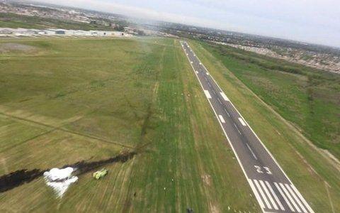 Escenario. La aeronave partió del aeródromo de San Fernando.