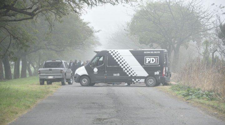 La Policía de Investigaciones (PDI) trabaja en el lugar del hecho.