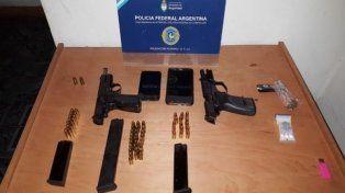 secuestro. Las dos poderosas armas incautadas ayer por la Policía Federal.