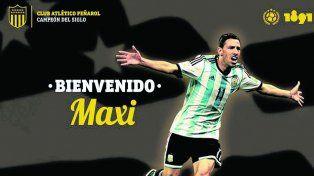 Peñarol confirmó la llegada de Maxi Rodríguez