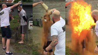 Una fiesta de solteros termina con la víctima en llamas