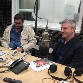 De los Santos y Lascano, en los estudios de La Ocho, presentaron su investigación.