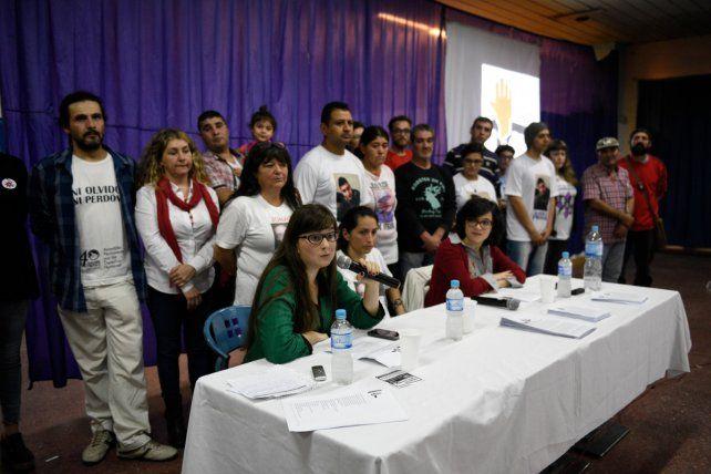 En La Toma. La multisectorial se presentó ayer ante unas 300 personas.