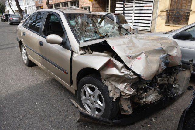 Así quedó el Renault Laguna. Según la Fiscalía