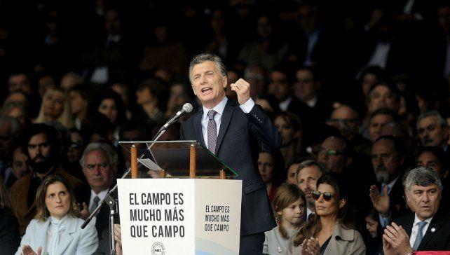 El presidente Mauricio Macri inauguró la 131º Exposición de Ganadería