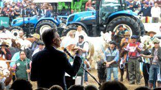 Tribuna amiga. Macri dio un típico discurso de campaña.