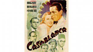 Vendieron en 478 mil dólares el único póster italiano de la película Casablanca
