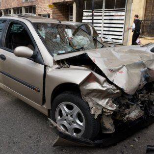 El Chevrolet Vectra quedó destruido tras la picada fatal del sábado a la madrugada.