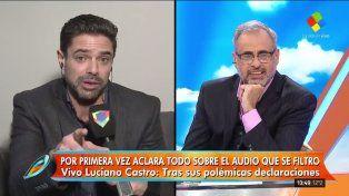 Luciano Castro rompió el silencio tras la filtración de su polémico audio contra Pol-Ka