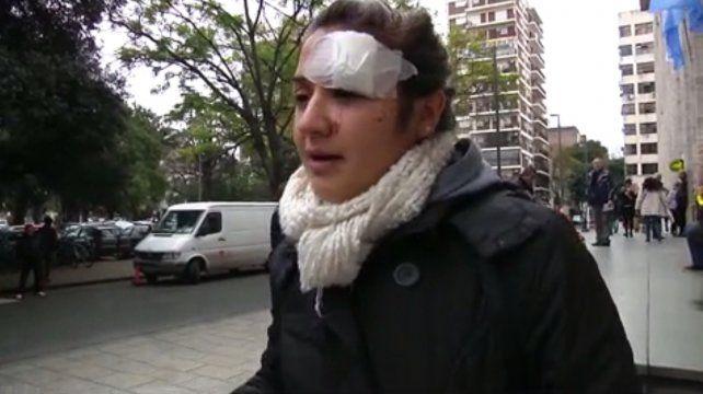 Yanina recibió doce puntos de sutura tras el ataque en el boliche de San Martín y Uriburu.