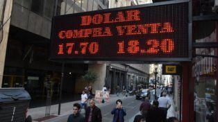 Volatilidad. El dólar llegó a tocar 18