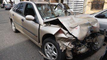 El automóvil que conducía el principal responsable de la tragedia.